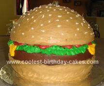 Homemade Hamburger  Cake