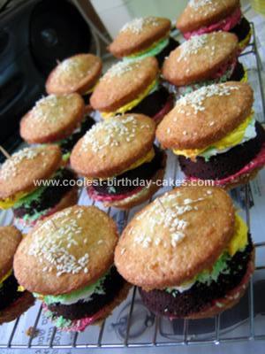 Homemade Hamburger Cupcakes