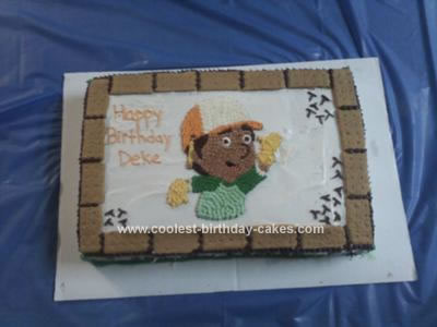 Homemade Handy Manny Birthday Cake