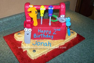 Homemade Handy Manny Cake