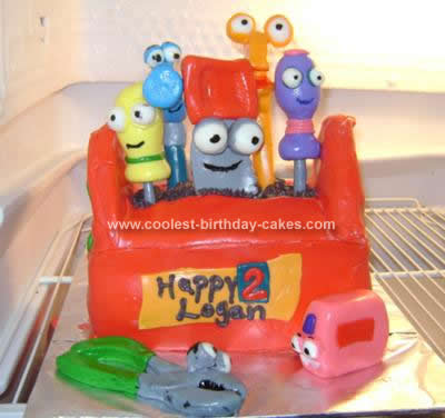 Homemade Handy Manny Tool Box Cake