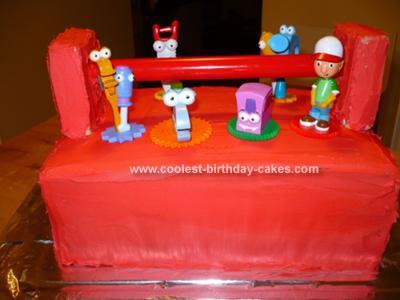 Homemade Handy Manny Toolbox Cake