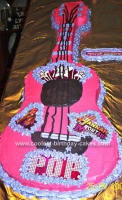 Homemade Hanna Montana Birthday Cake