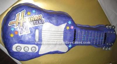 Homemade Hanna Montana Guitar Cake