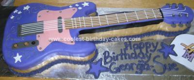 Homemade Hannah Guitar Birthday Cake