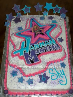 This Hannah Montana Birthday Cake was a two day labor of love for a very