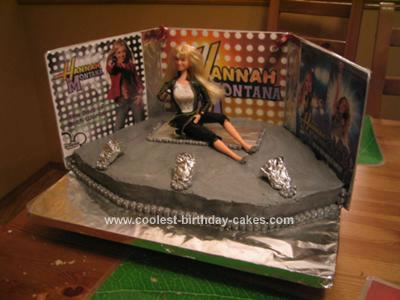 Homemade Hannah Montana Birthday Cake