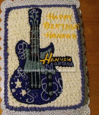 Homemade Hannah Montana Cake