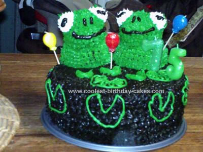 Homemade  Happy Frogs Cake