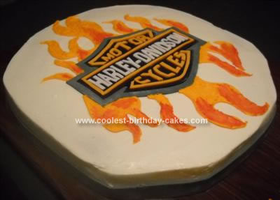Homemade Harley Davidson Cake