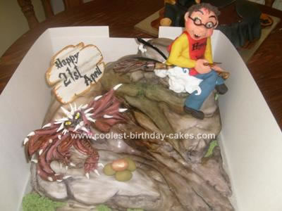 Homemade Harry Potter and the Golden Egg Cake
