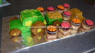 Homemade Harvest Tractor Cake