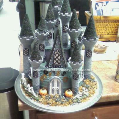 Homemade Haunted Castle Birthday Cake