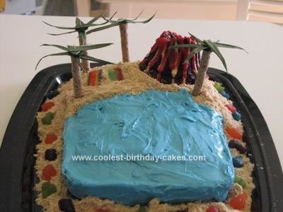 Homemade Hawaii Beach Cake