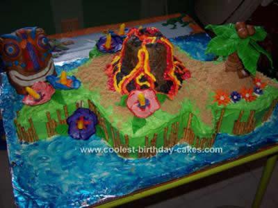 Homemade Hawaii Island Cake