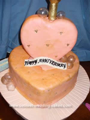 Coolest Hearts and Champagne Anniversary Cake