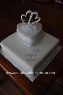 Hearts Engagement Cake
