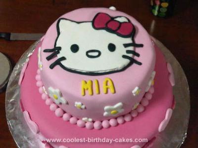 Homemade Hello Kitty 4th Birthday