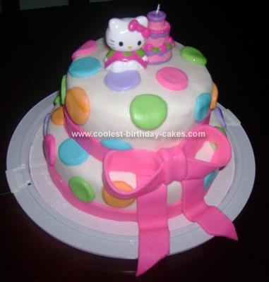 Homemade Birthday Cake on Homemade Hello Kitty Birthday Cake