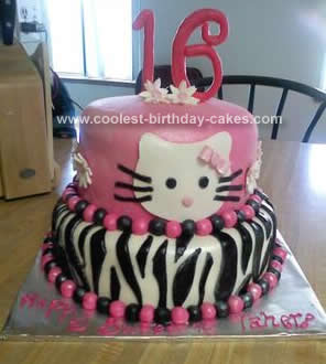 Kitty Birthday Cakes on Zebra Birthday Cake On Coolest Hello Kitty Birthday Cake 141