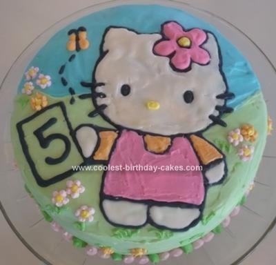 Homemade Hello Kitty Birthday Cake 74
