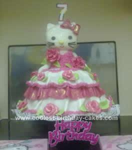 Homemade Hello Kitty Birthday Cake Idea