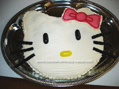 Homemade Hello Kitty Cake