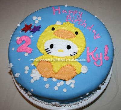 Homemade Hello Kitty Ducky Cake