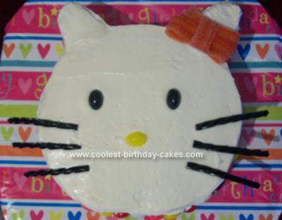 Homemade Hello Kitty Pretty Kitty Cake