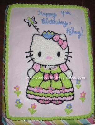 Kitty Birthday Cakes on Coolest Hello Kitty Princess Cake 122
