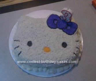 Homemade Hello Kitty Shaped Pan Cake