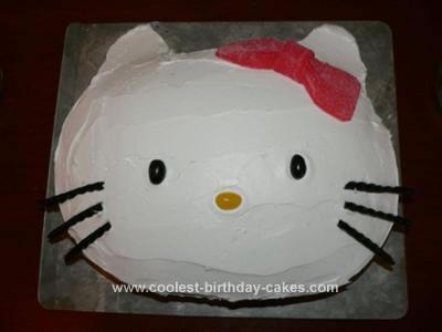 Homemade Hello Kitty Third Birthday Cake
