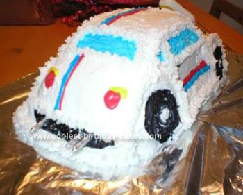 Homemade Herbie Birthday Cake