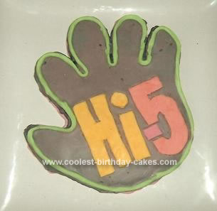 Homemade Hi 5 Birthday Cake