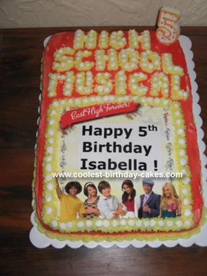 Homemade High School Musical Cake