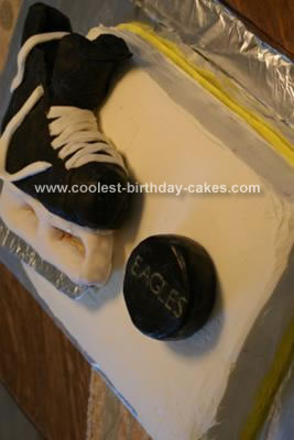 Homemade Hockey Skate Cake
