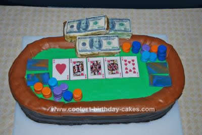 Homemade Holdem Poker Table Cake