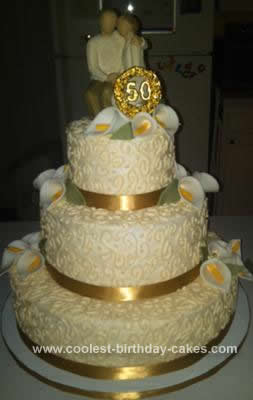 Coolest Homemade 50th Anniversary Cake