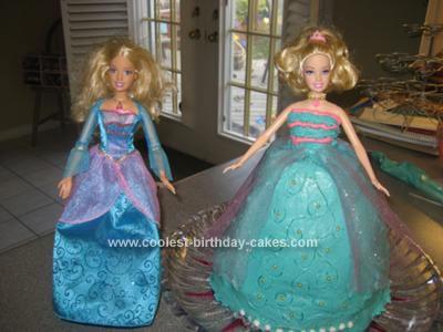Homemade Barbie Birthday Cake