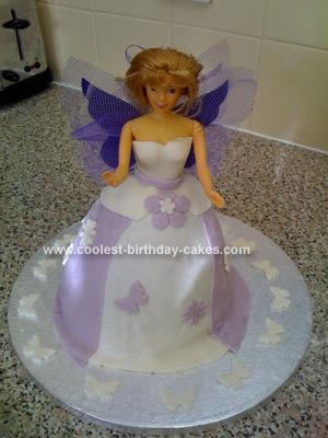 Butterfly Dolly Varden Barbie Cake