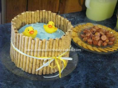 Coolest Homemade Ducks Baby Shower Cake 65