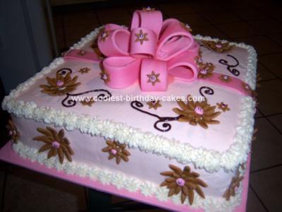 Homemade Giftbox Birthday Cake