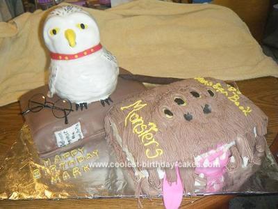 Homemade Harry Potters Books Birthday Cake