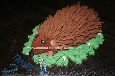 Homemade Hedgehog Cake
