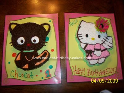 This is my Homemade Hello Kitty Birthday Cake. I printed off pictures of the