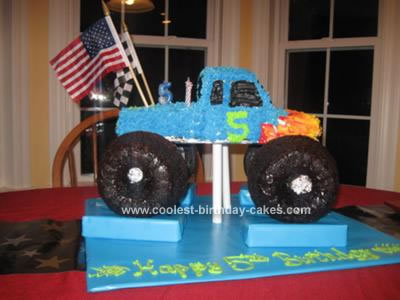 Monster Truck Birthday Cake on Coolest Homemade Monster Truck Birthday Cake 48