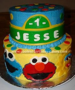 Sesame Street Birthday Cakes on Coolest Homemade Sesame Street Cake 27