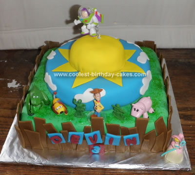 HomemadeToy Story Birthday Cake