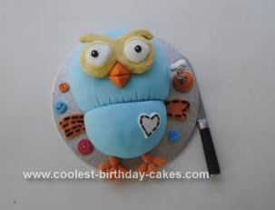 Homemade Hoot the Owl Cake
