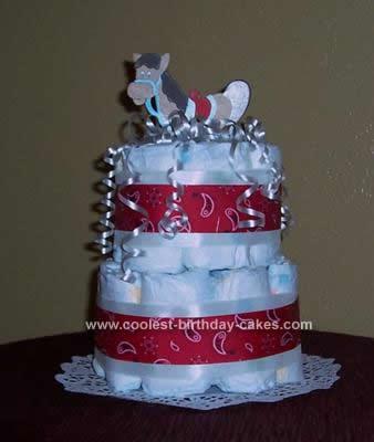 Homemade Horse Baby Diaper Cake